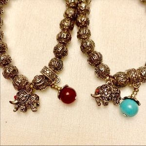 Jewelry - Tibetan Beads with Elephant Charm and Colored Bead